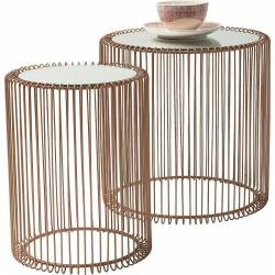 Šoninis staliukas WIRE COPPER (2 vnt) 45x46 vario