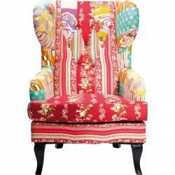 Fotelis PATCHWORK RED margas