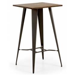 Baro stalas MALIRA 60x60 tamsiai rudas