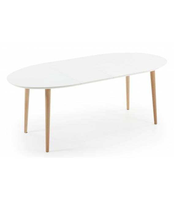 Ovalus išskleidžiamas stalas OAKLAND 120(200)x90