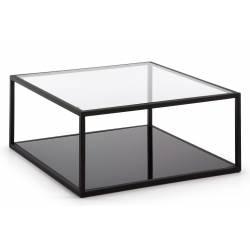 Kavos staliukas GREENHILL 80x80 skaidrus stiklas