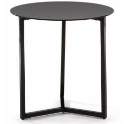 Šoninis staliukas MARAE Ø50 juodas