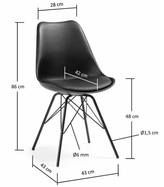 Kėdė LARS juoda