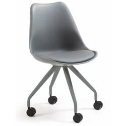 Kėdė LARS pilka su ratukais