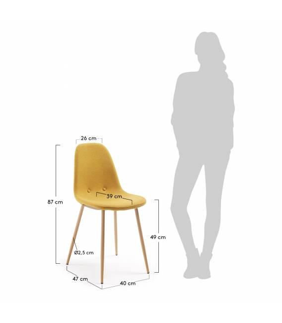 Kėdė LISSY garstyčių