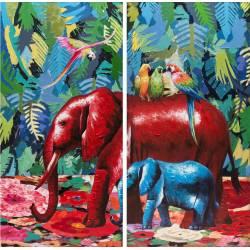 Paveikslas ELEPHANTS 160x80 (2vnt.)