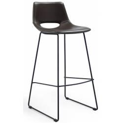 Baro kėdė ZIGGY PU tamsiai ruda
