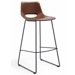 Baro kėdė ZIGGY PU ruda