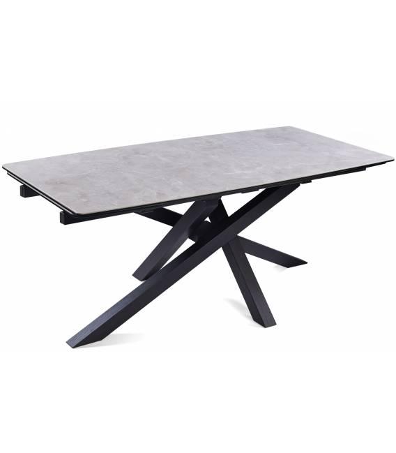 Išskleidžiamas stalas ARTISTICO 180(260)x90x75 šviesiai pilkas su rudu