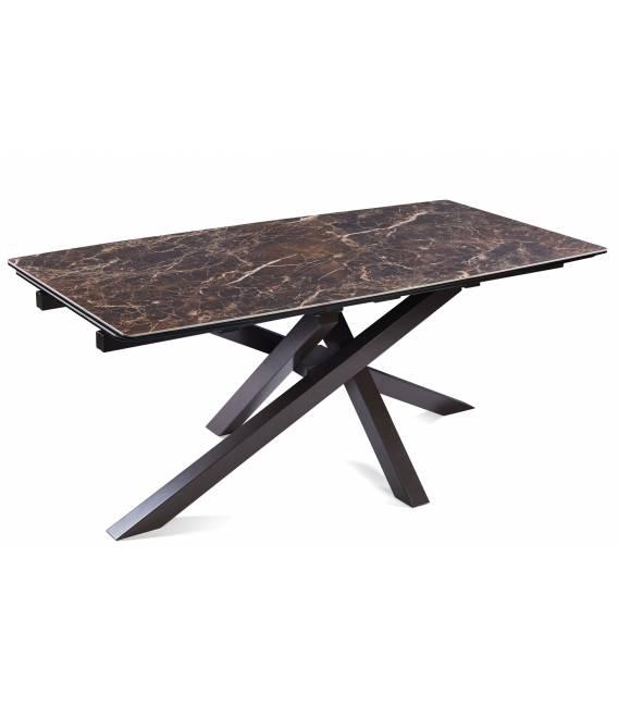 Išskleidžiamas stalas ARTISTICO 180(260)x90x75 rudai margas
