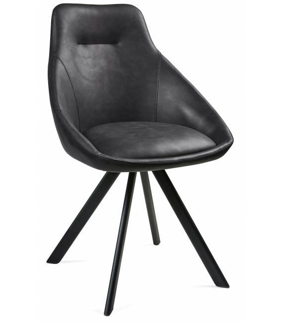 Kėdė ALUMNA PU tamsiai pilka