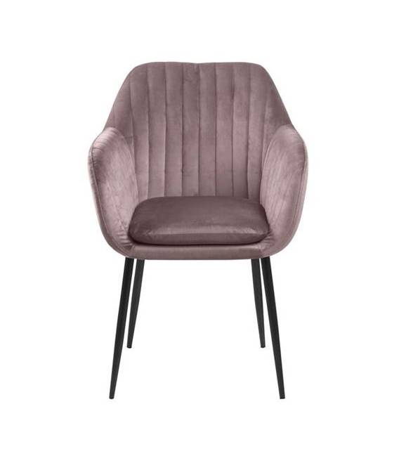 Krėsliukas EMILIA VIC rožinis/juodos kojos