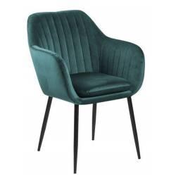 Krėsliukas EMILIA VIC turkio mėlyna/juodos kojos
