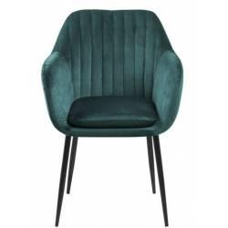 Krėsliukas EMILIA žalia/juodos kojos