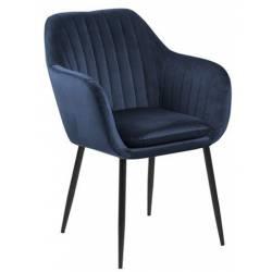 Krėsliukas 80294 VIC tamsiai mėlynas/juodos kojos