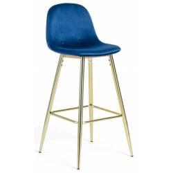 Baro kėdė NILSON-V mėlyna