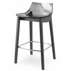 Pusbario kėdė LED WOOD juoda