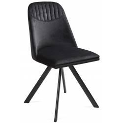 Kėdė ROUND VIC juoda/sukasi