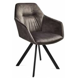 Krėsliukas LINDA VIC tamsiai pilkas