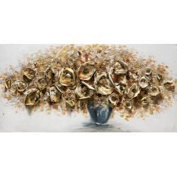 Paveikslas GOLD FLOWERS 60x120