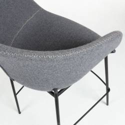 Baro kėdė ZADINE pilka