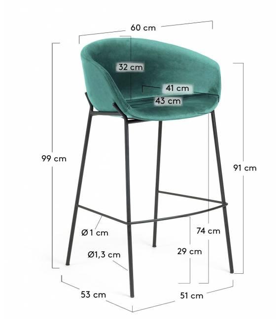 Baro kėdė ZADINE VIC žalia