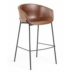 Baro kėdė ZADINE PU ruda