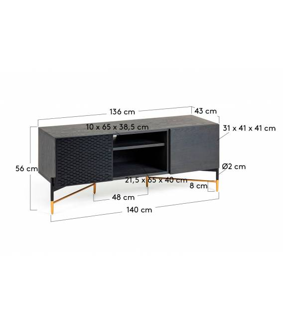 TV staliukas NORFORT 141x60