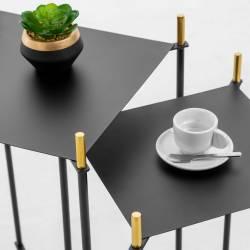 Šoninių staliukų komplektas DAGNEN juodas