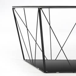 Kavos staliukas TILO 60x60 skaidrus stiklas