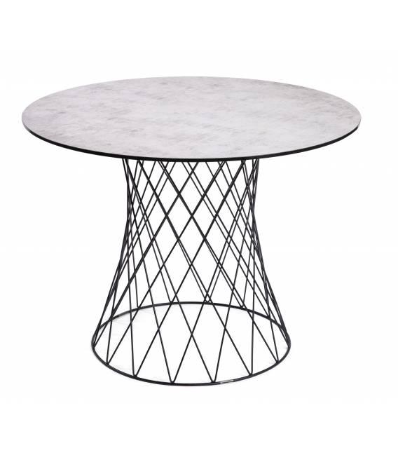 Apvalus stalas RETE Ø100 šviesiai pilkas