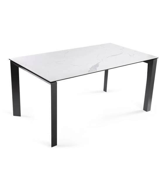 Išskleidžiamas stalas GRATIS 160(220)x90 baltas su pilku