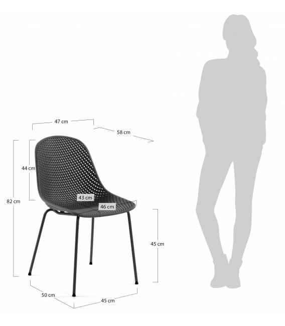 Kėdė QUINBY tamsiai pilka