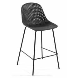 Baro kėdė QUINBY tamsiai pilka