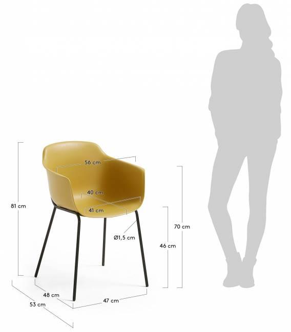 Kėdė KHASUMI garstyčių