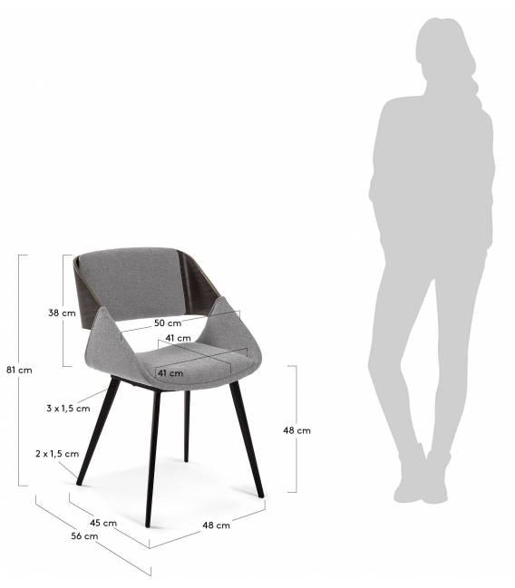 Kėdė HERRICK šviesiai pilka
