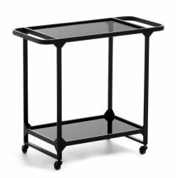 Šoninis staliukas DUILIA 68x75 juodas