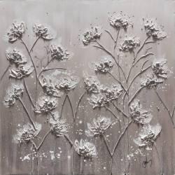 Paveikslas WHITE FLOWERS 100x100