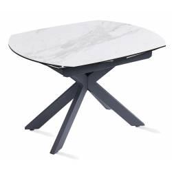 Išskleidžiamas stalas TORRE 120(180)x90x76 baltas