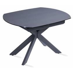 Išskleidžiamas stalas TORRE 120(180)x90x76 tamsiai pilkas