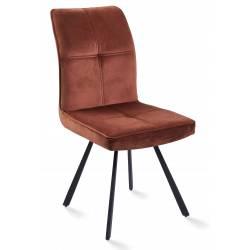 Kėdė VIA VIC oranžinė/sukasi