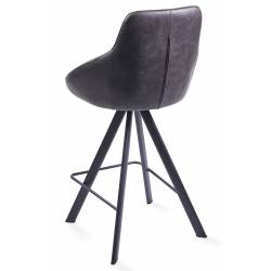 Pusbario kėdė ALUMNA PU tamsiai pilka