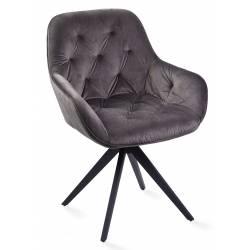 Krėsliukas MOON VIC tamsiai pilkas