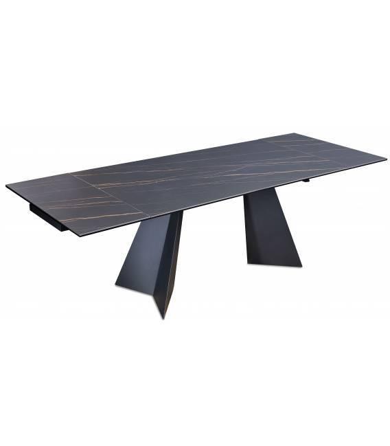 Išskleidžiamas stalas DORIANO 160(240)x90 juodas su rudu