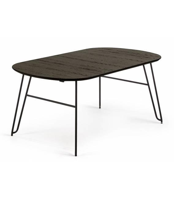 Išskleidžiamas stalas NORFORT 170(320)x100 juodas