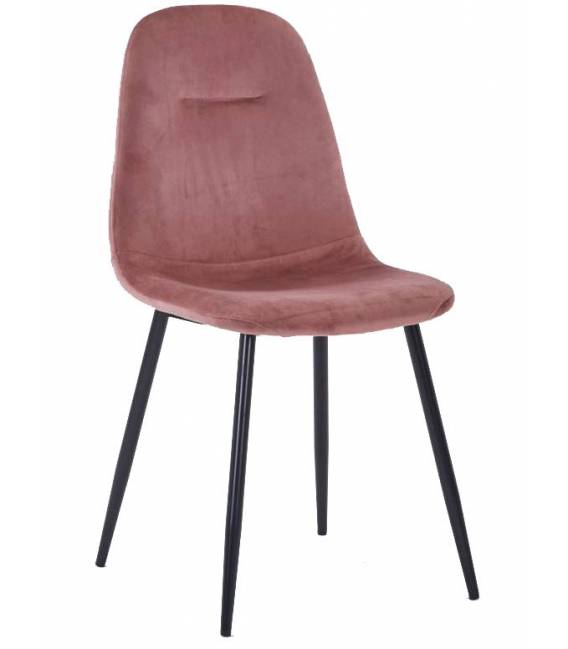 Kėdė CONNY VIC rožinė/juodos kojos