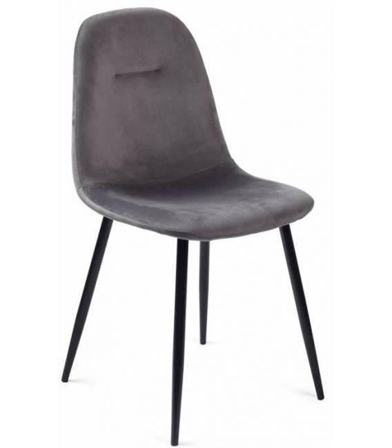 Kėdė CONNY VIC tamsiai pilka/juodos kojos