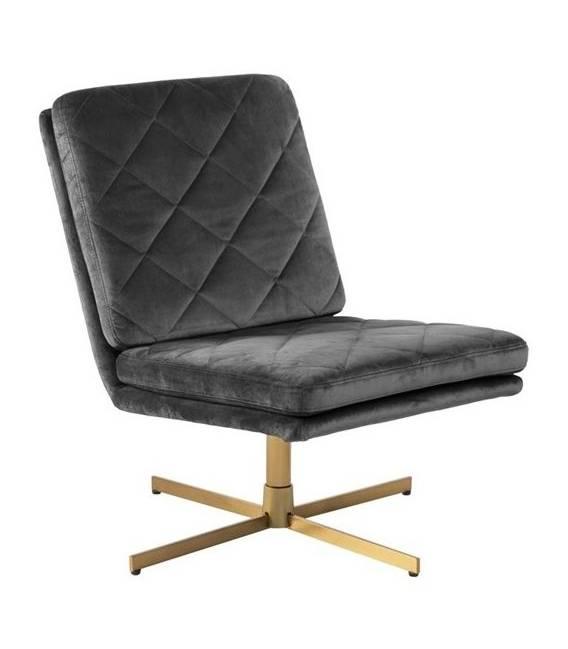 Fotelis 80775 VIC tamsiai pilkas