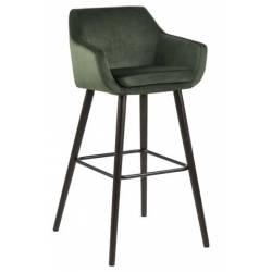 Baro kėdė NORA VIC tamsiai žalia