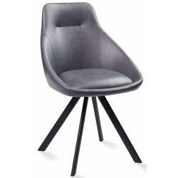 Kėdė ALUMNA PU šviesiai pilka/sukasi